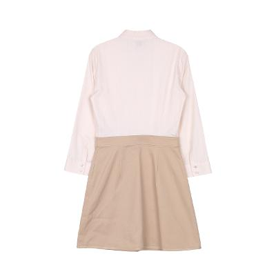 shirt blouse dress beige