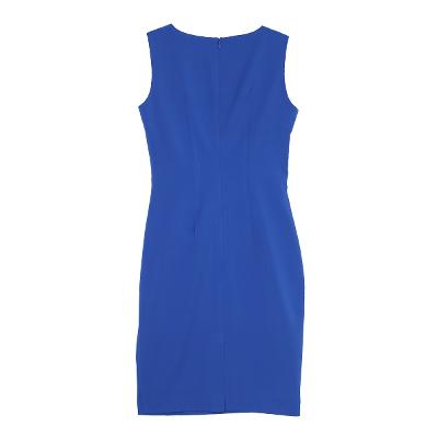 shirring sleeveless dress blue