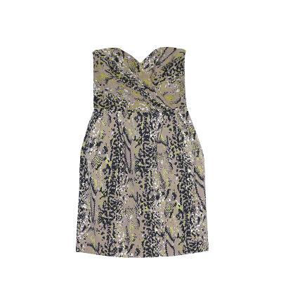 python tube top dress beige
