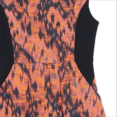 side block pattern dress muti