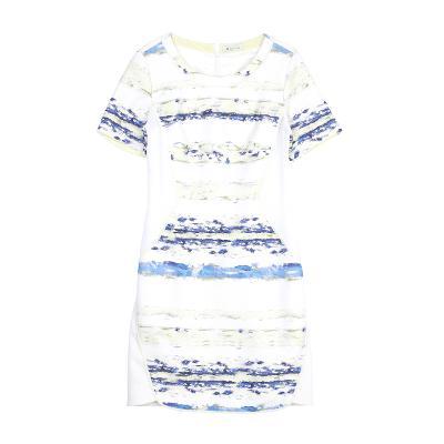texture stripe pattern dress