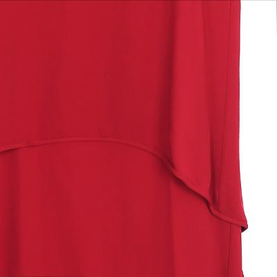 layered halter dress red