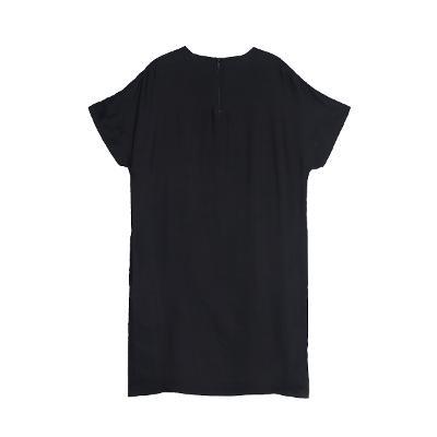 graphic H-line dress black2
