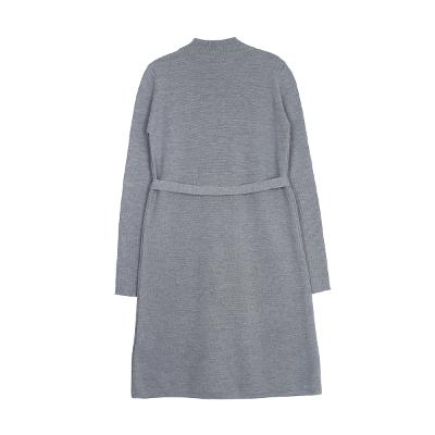 buckle robe dress gray