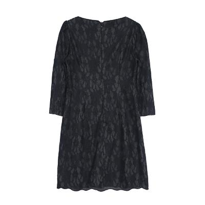 lace embroidery dress black