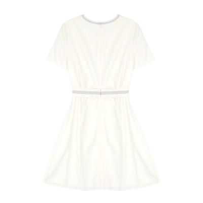 banding pointed dress ivory