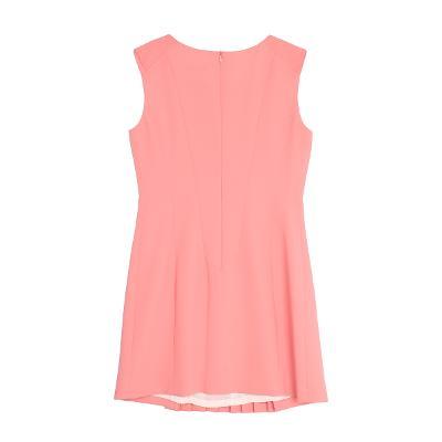 front pin-tuck dress pink
