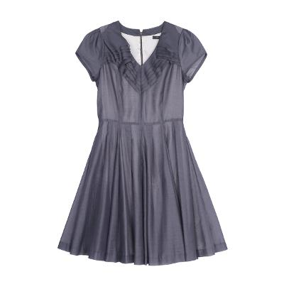 ruffle organza dress gray