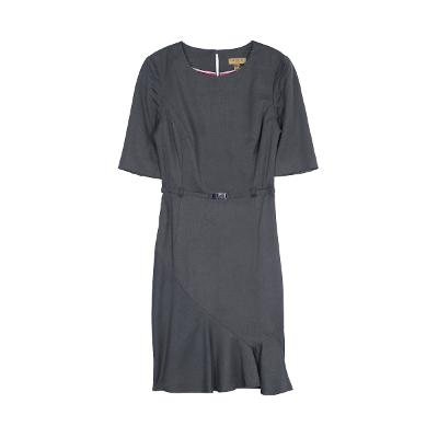 diagonal frill dress charcoal