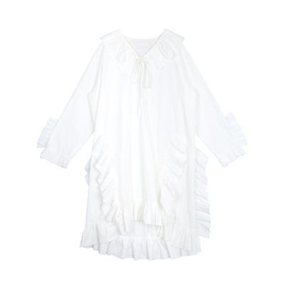 frill lovely dress white
