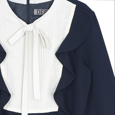 lace frill dress navy