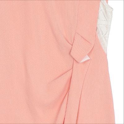 shirring detail sleeveless dress pink
