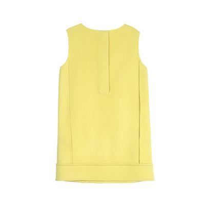side pocket dress yellow