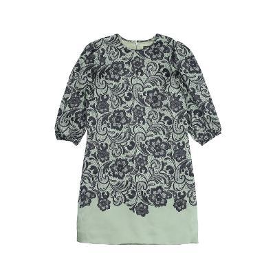 floral lace mix dress