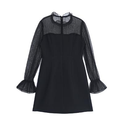 see through dress black
