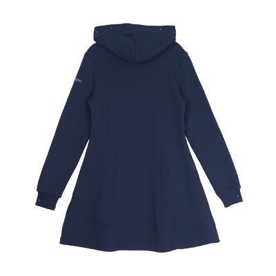 hoodie flare dress navy