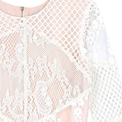 punching lace dress white