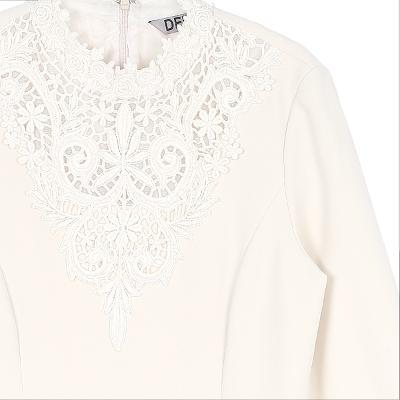 lace neck dress ivory