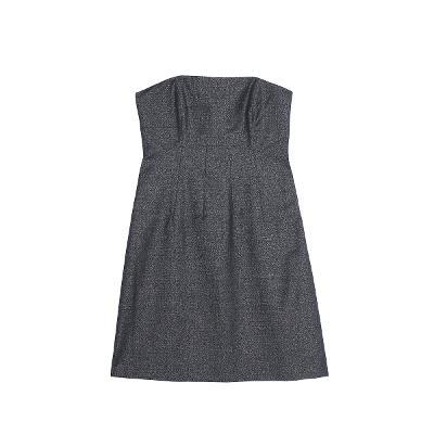 tube top dress charcoal