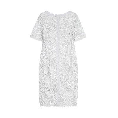 pure lace dress white