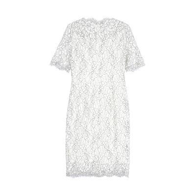 floral lace dress white