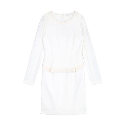 prim peplum dress white