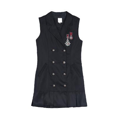 wappen detail dress black