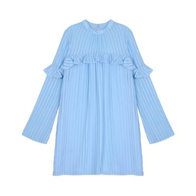 frill detail dress pastel skyblue