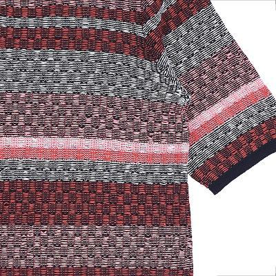 jacquard half sleeve knit dress