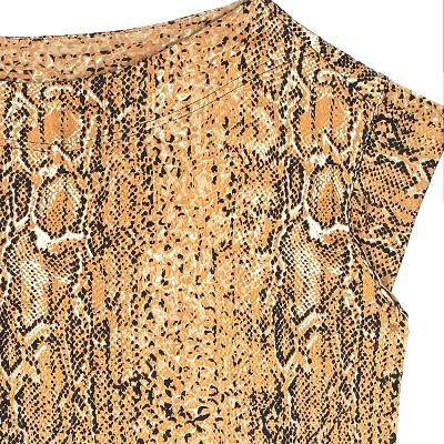 python skin pattern dress gold