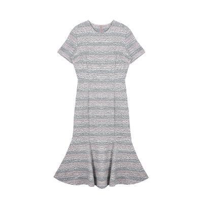 jacquard  fabric mermaid dress
