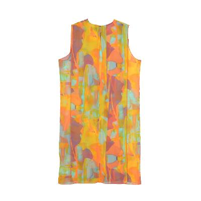 abstract painting dress multi