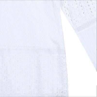 lace puff dress white