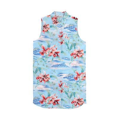 hawaiian shirt sleeveless dress