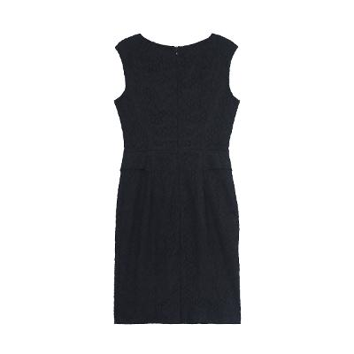 lace sleeveless dress black