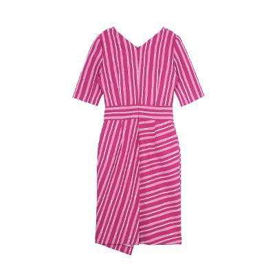 line pattern dress pink