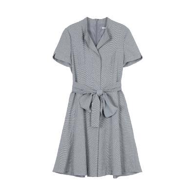 ribbon detail dress gray
