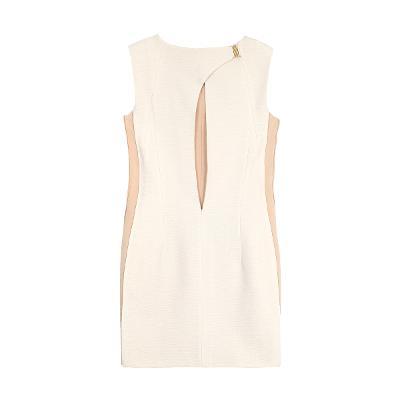 back slit two tone dress