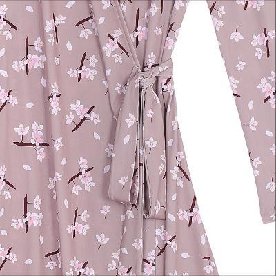 flower pattern wrap dress