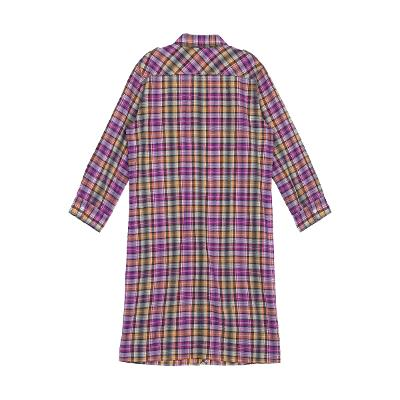 check pattern shirt dress multi