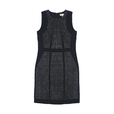 stud detail sleeveless dress black