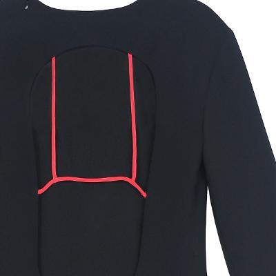 back open detail dress black