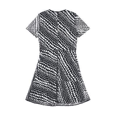 embroidery detail stripe dress
