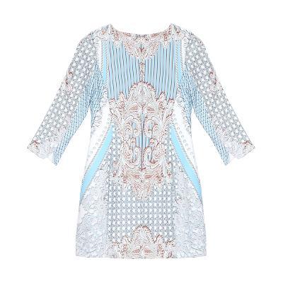 elegance patterned dress multi