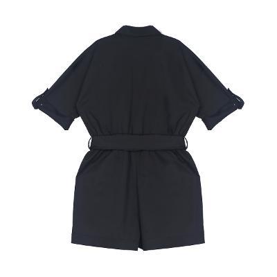 brooch point shirt jump suit