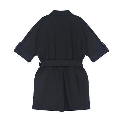 brooch point jumpsuit black