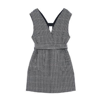 hound tooth pattern sleeveless dress