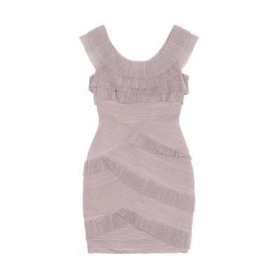 pleats texture frill detail dress