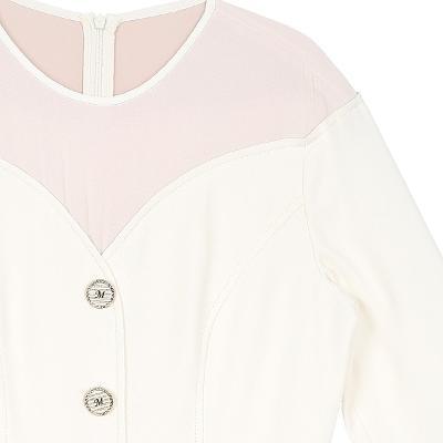 button point yoke dress multi