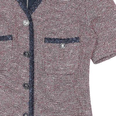 fringe detail button point dress